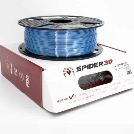 PLA silk כחול משי כסוף filament פילמנט גליל הדפסה