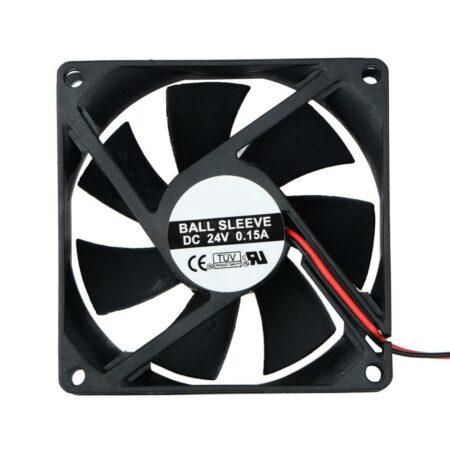2 Pin DC 24V 80x80x25mm 8025 Dual Ball Motor Cooling Fan-0