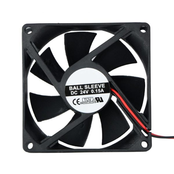 2 Pin DC 24V 80x80x25mm 8025 Dual Ball Motor Cooling Fan-0