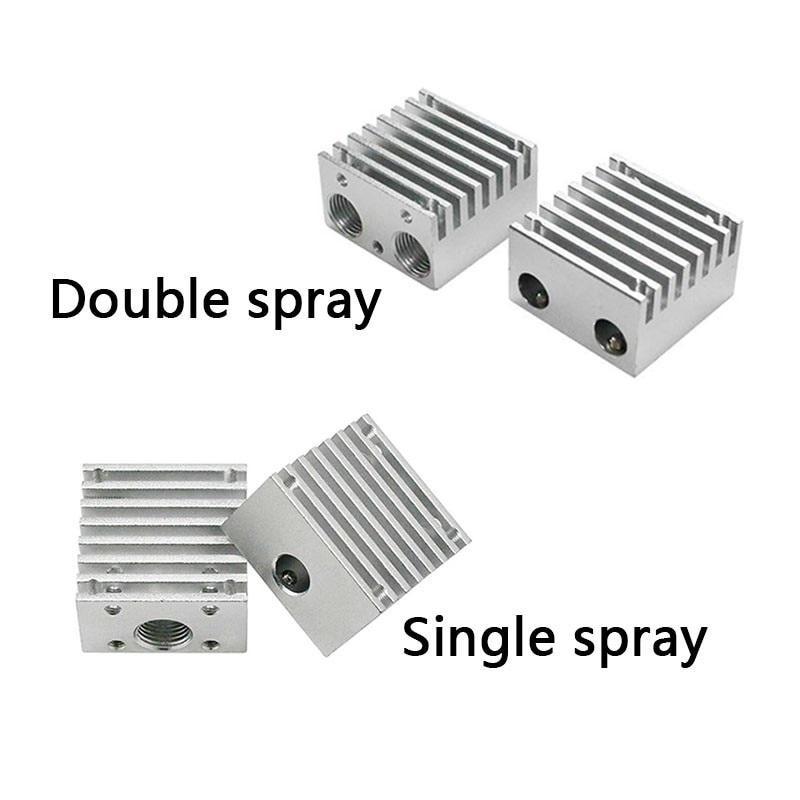 V6 heat sink for Chimera multi extruder aluminium alloy dual head cooling fin 30*30*18mm-4552