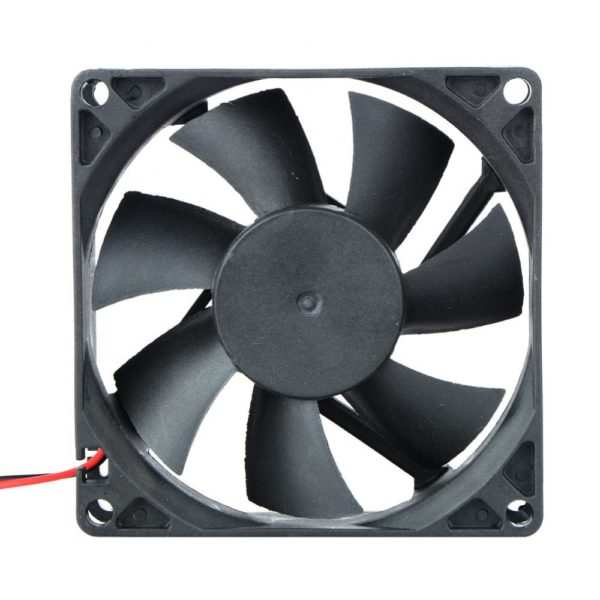 2 Pin DC 24V 80x80x25mm 8025 Dual Ball Motor Cooling Fan-4560