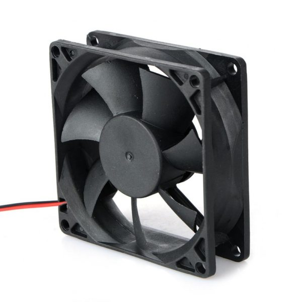 2 Pin DC 24V 80x80x25mm 8025 Dual Ball Motor Cooling Fan-4558