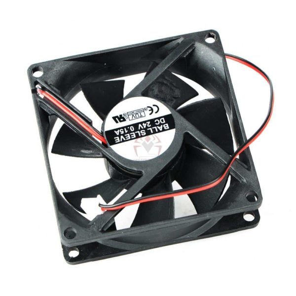 2 Pin DC 24V 80x80x25mm 8025 Dual Ball Motor Cooling Fan-4561