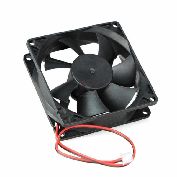 2 Pin DC 24V 80x80x25mm 8025 Dual Ball Motor Cooling Fan-4559