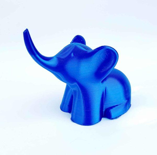 פיל כחול pla תלת מימד
