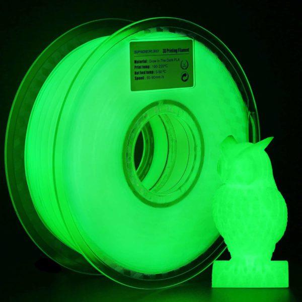 PLA ירוק זוהר בחושך