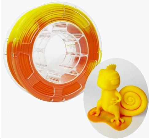 Temparature changing filament
