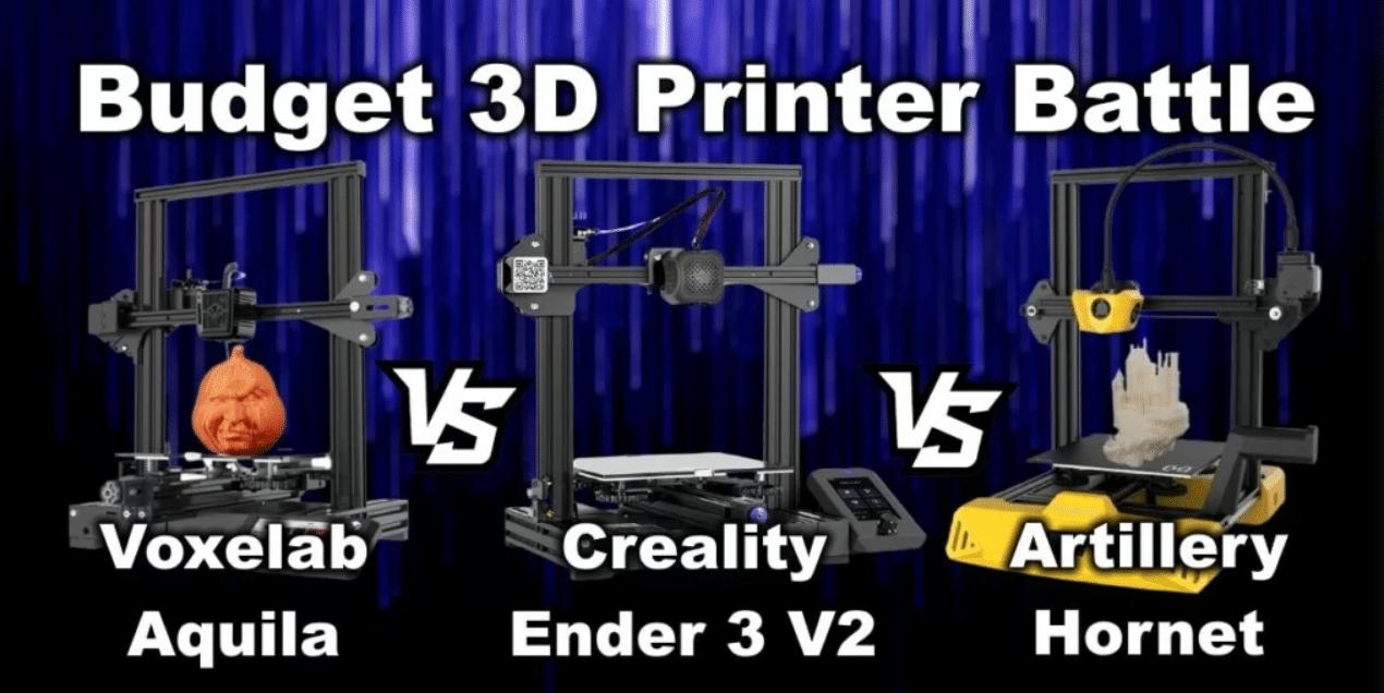 השוואה Ender 3 V2 ARTILLERY