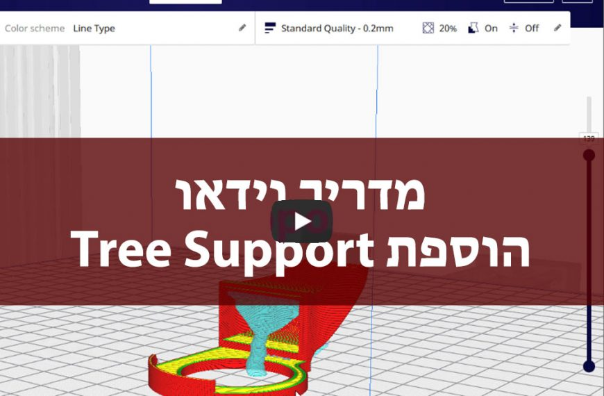 Tree support cura – תמיכות עץ קלות להסרה