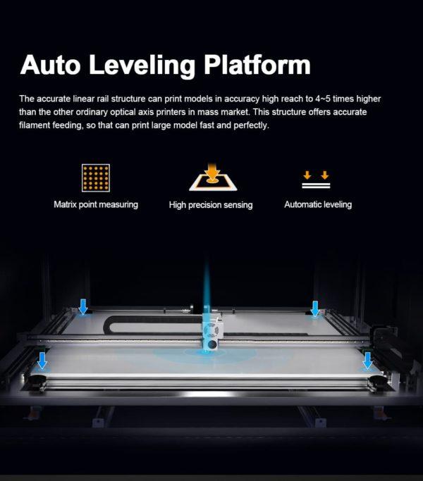מדפסת תלת מימד מקצועית ענקית bed leveling bltouch