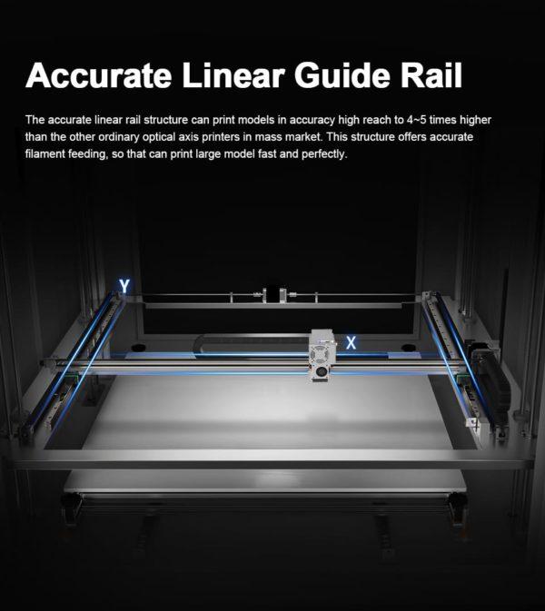 מדפסת תלת מימד עם מייסבים ליניארים