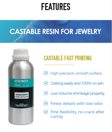castable resin for jewlery
