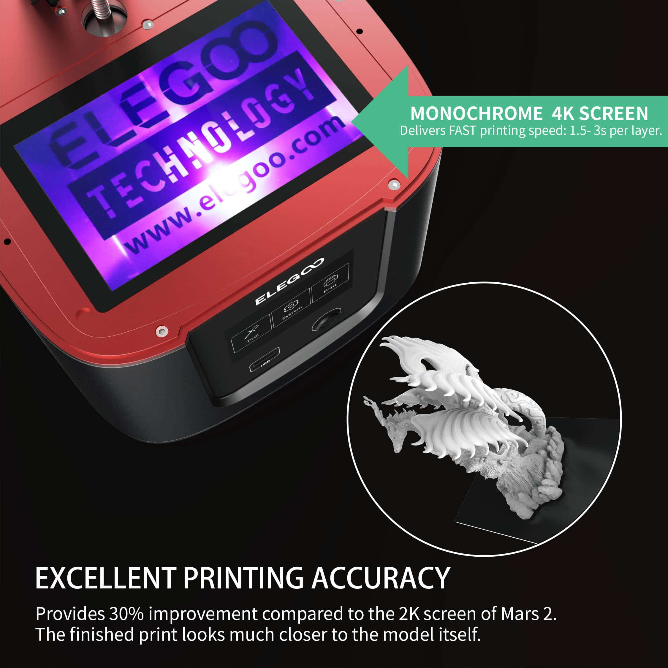 elegoo mars 3 ultra 4K אלגו מארס 3 אולטרה מדפסת שרף