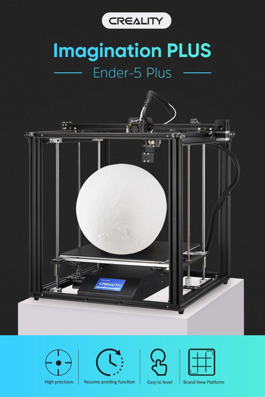 Ender 5 Plus אנדר 5 פלוס מדפסת תלת מימד