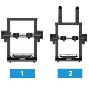 JGMaker Artist-D Dual Extruder ג'יי מייקר ארטיסט די מדפסת תלת מימד אומנים / מעצבים