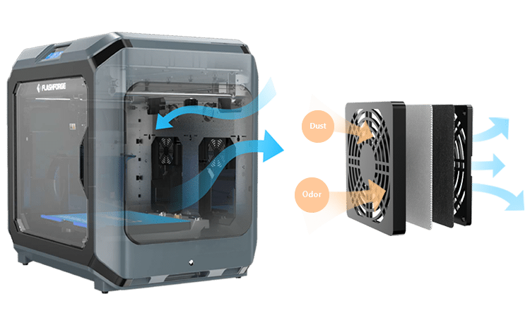 Flashforge Professional creator 3 Dual Extruder פלאשפורג קריאטור 3 מדפסת תלת מימד