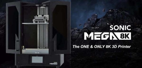 Phrozen Sonic MEGA 8K 3D Printer פרוזן סוניק מגה מדפסת שרף תלת מימד