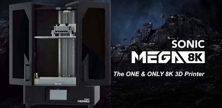 Phrozen Sonic MEGA 8K 3D Printer פורזן סוניק מגה מדפסת שרף תלת מימד